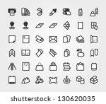 print   prepress icons set | Shutterstock .eps vector #130620035