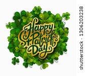 happy saint patrick's day... | Shutterstock .eps vector #1306203238