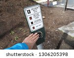 push button to cross the street | Shutterstock . vector #1306205398