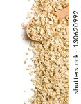 the oat flakes on a wooden spoon | Shutterstock . vector #130620992