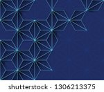 abstract modern background with ... | Shutterstock . vector #1306213375