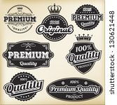 Stock vector vector collections of black white vintage labels 130621448