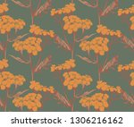 colorful tansy seamless pattern ... | Shutterstock .eps vector #1306216162
