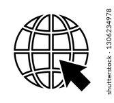 internet or world wide web icon....   Shutterstock . vector #1306234978