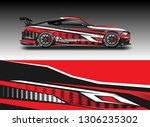 wrap car racing designs vector .... | Shutterstock .eps vector #1306235302