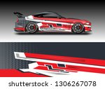 wrap car racing designs vector .... | Shutterstock .eps vector #1306267078
