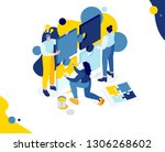 vector creative business... | Shutterstock .eps vector #1306268602