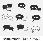speech bubble vector icons.chat ... | Shutterstock .eps vector #1306274968