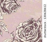 vintage floral corners... | Shutterstock .eps vector #130628612