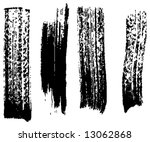 grungy brush strokes set | Shutterstock .eps vector #13062868