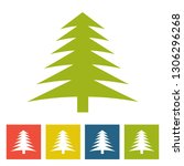 spruce. new year icon | Shutterstock . vector #1306296268