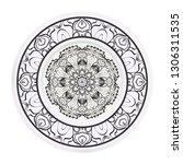 modern plate for interior... | Shutterstock .eps vector #1306311535