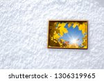 image of autumn maple leaves... | Shutterstock . vector #1306319965