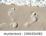 Two Human Footprints In The...