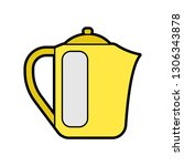 flat color coffee maker icon | Shutterstock .eps vector #1306343878