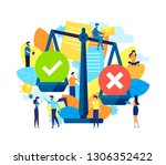 concep of weight scales and... | Shutterstock .eps vector #1306352422