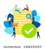 small people with finished...   Shutterstock .eps vector #1306352425