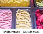 delicious ice cream of...   Shutterstock . vector #1306355038
