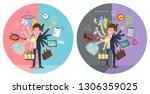 a set of men in sportswear who...   Shutterstock .eps vector #1306359025