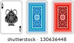 ace and matching back from deck ...   Shutterstock . vector #130636448