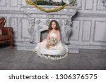 eastern type beautiful little... | Shutterstock . vector #1306376575