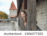 girl tourist on the fortress... | Shutterstock . vector #1306377202