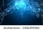computing connection structure. ... | Shutterstock . vector #1306390582