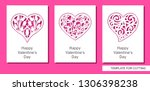 Set Of Greeting Card With Lacy...