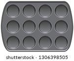 non stick bakeware muffin top... | Shutterstock .eps vector #1306398505