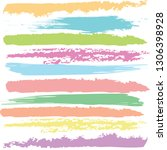 abstract colorful pastels paint ... | Shutterstock .eps vector #1306398928