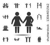 girlfriends icon. simple glyph  ...