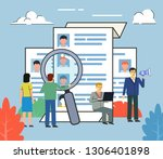 recruitment agency  hire or... | Shutterstock .eps vector #1306401898