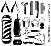 barbershop collection tools... | Shutterstock .eps vector #1306404205