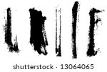 grungy brush strokes set | Shutterstock .eps vector #13064065