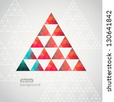 triangle pattern background ... | Shutterstock .eps vector #130641842