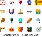 color flat icon set   a glass... | Shutterstock .eps vector #1306428955