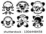 set of skateboarding club... | Shutterstock .eps vector #1306448458