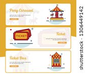carnival banner collection with ... | Shutterstock .eps vector #1306449142