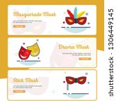 carnival banner collection with ... | Shutterstock .eps vector #1306449145