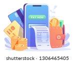 online card payment concept ...   Shutterstock .eps vector #1306465405