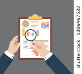 auditing tax process concept....   Shutterstock .eps vector #1306467532
