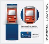 atm automatic teller machine... | Shutterstock .eps vector #1306467592