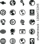 solid black vector icon set  ... | Shutterstock .eps vector #1306472245
