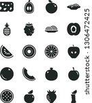 solid black vector icon set  ... | Shutterstock .eps vector #1306472425