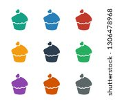 muffin icon white background.... | Shutterstock .eps vector #1306478968