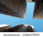 lower view of building  amazing ... | Shutterstock . vector #1306479055