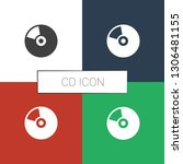 cd icon white background.... | Shutterstock .eps vector #1306481155