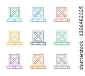 cargo on palette icon white... | Shutterstock .eps vector #1306482325