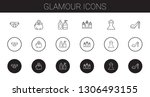 glamour icons set. collection... | Shutterstock .eps vector #1306493155