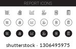 report icons set. collection of ...